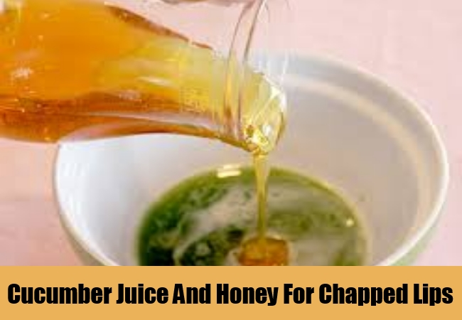 Cucumber Juice And Honey For Chapped Lips