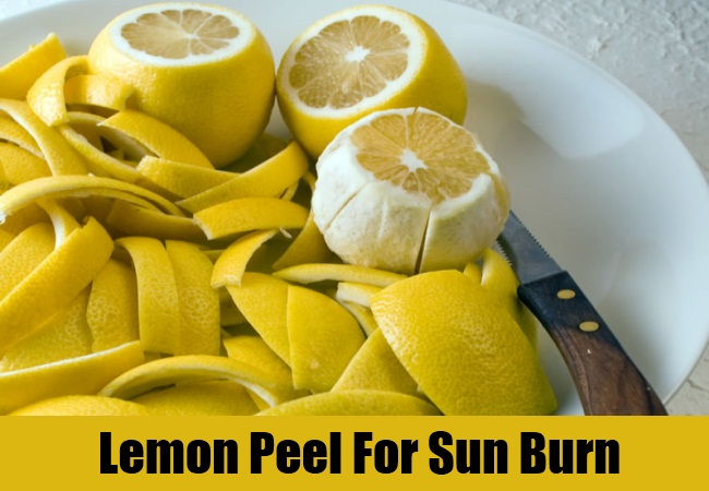 Lemon Peel For Sun Burn