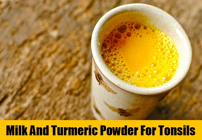 Milk And Turmeric Powder For Tonsils