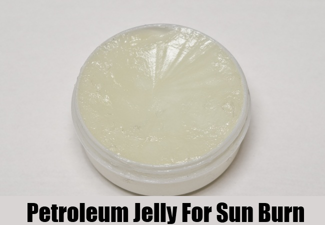 Petroleum Jelly For Sun Burn