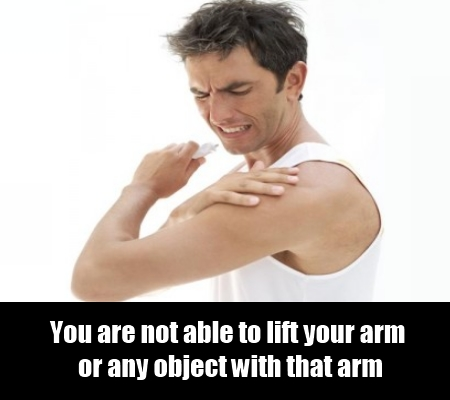 Inability To Lift Arm Or Objects