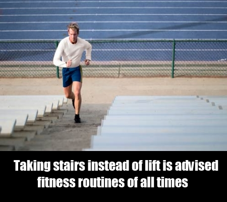 Taking stairs