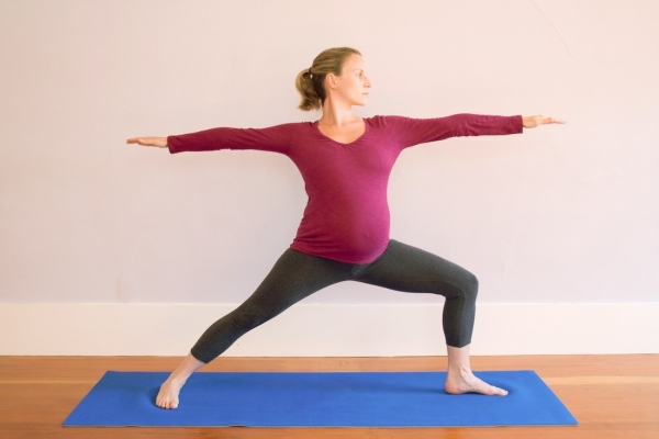 Warrior yoga for pregnancy