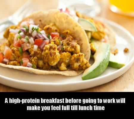 Eat High-protein breakfast