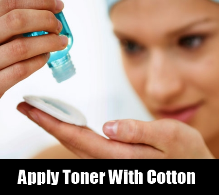 Apply Toner With Cotton