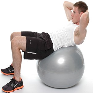Ab Crunches On An Exercise Ball