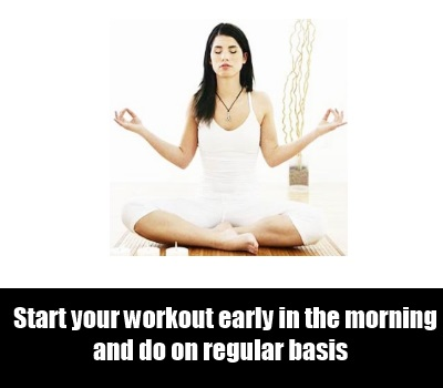 Schedule Inspirational Workout Session In The Morning