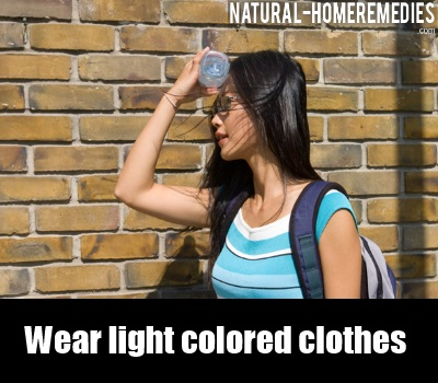 light colored clothes