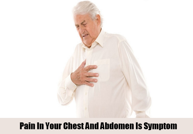 pain in your chest and abdomen
