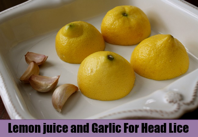 Lemon juice and Garlic