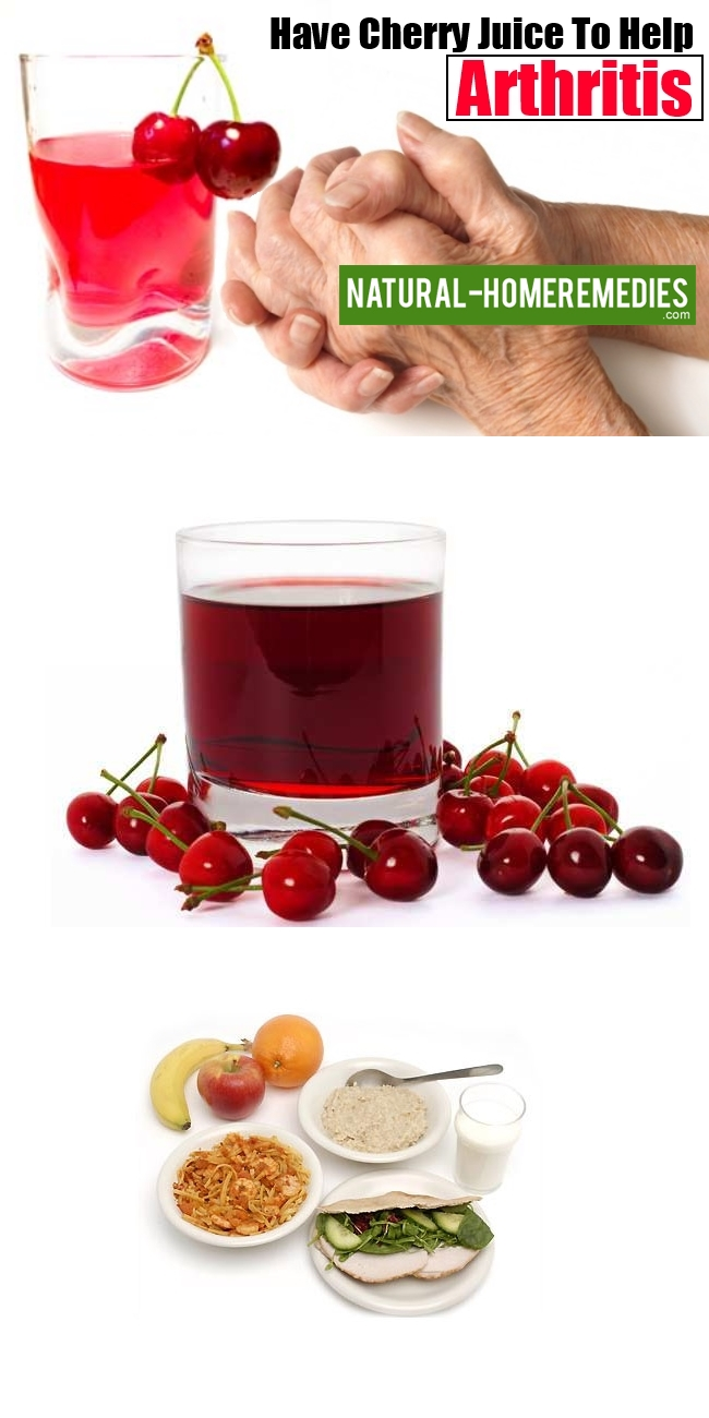 Have Cherry Juice To Help Arthritis