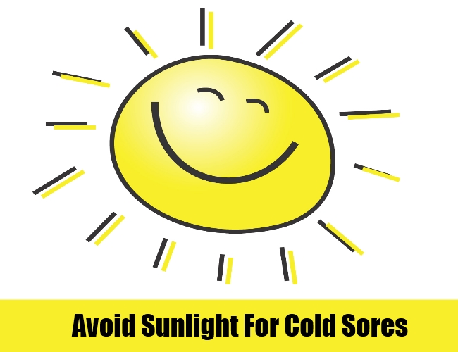 Avoid Exposure To Sunlight For Cold Sores