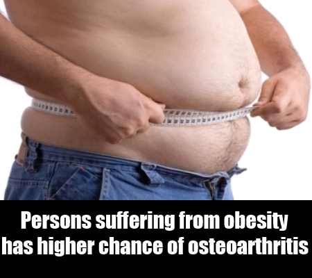 Obesity Is The Main Cause Of Osteoarthritis