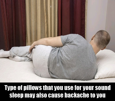 Use Of  Hard Pillows For Sleeping Causes Backache