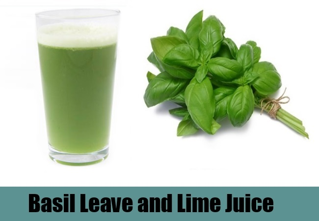 Basil Leave and Lime Juice