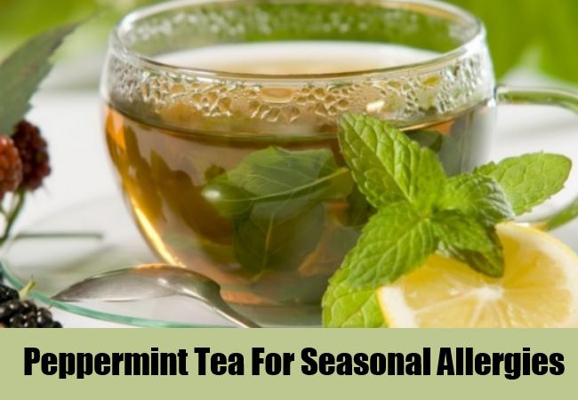 Peppermint Tea For Seasonal Allergies