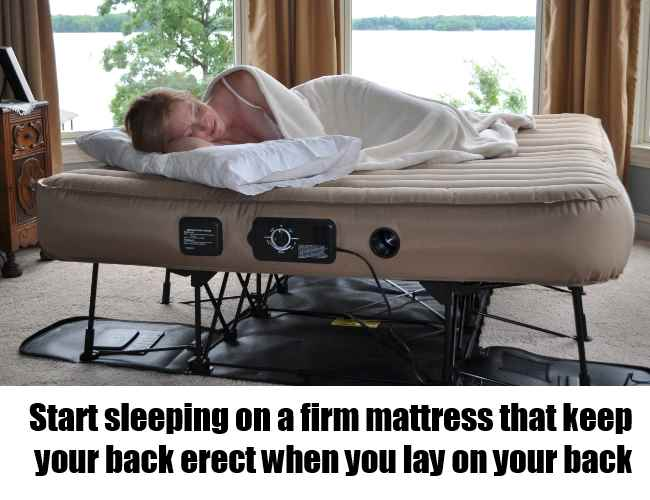 Use A Firm Mattress