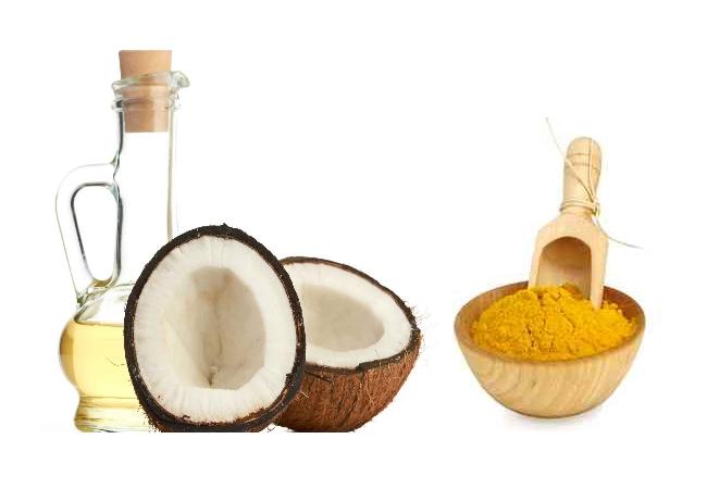 Turmeric Powder And Coconut Oil