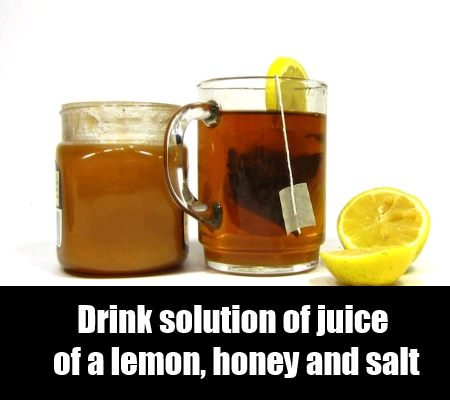 Lemon, honey And salt