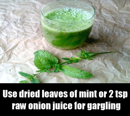 Raw Onion Juice Or Mint Juice