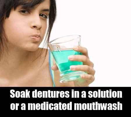 Soaking The Dentures