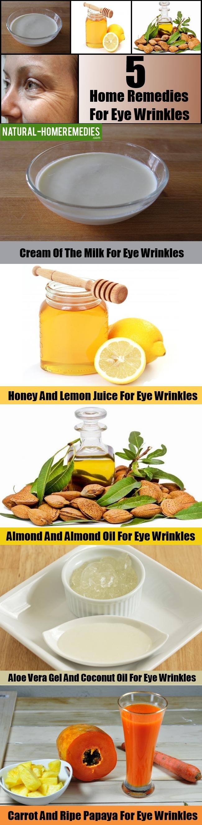 5 Best Home Remedies For Eye Wrinkles