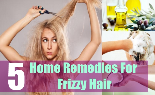 5 Home Remedies For Frizzy Hair