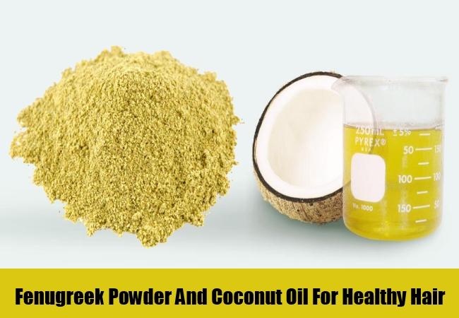 Fenugreek Powder And Coconut Oil