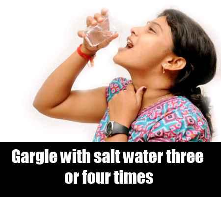 Salt Water Gargle