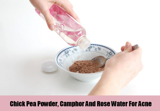 Chick Pea Powder, Camphor And Rose Water