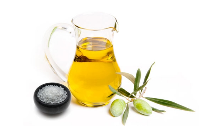 Table Salt With Olive Oil