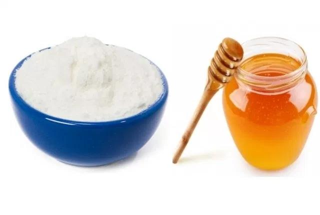 Amalgamated Paste of Honey and Rice Flour