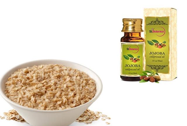 Amalgamated Paste of Oatmeal and Jojoba oil