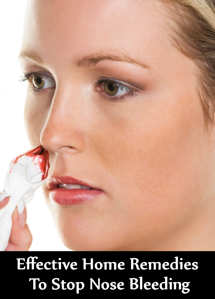 Effective Home Remedies To Stop Nose Bleeding