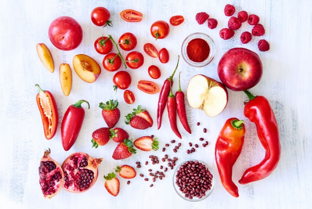 Red Vegetables And Fruits