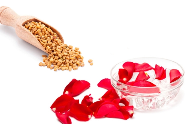 Rose-water And Fenugreek Seeds