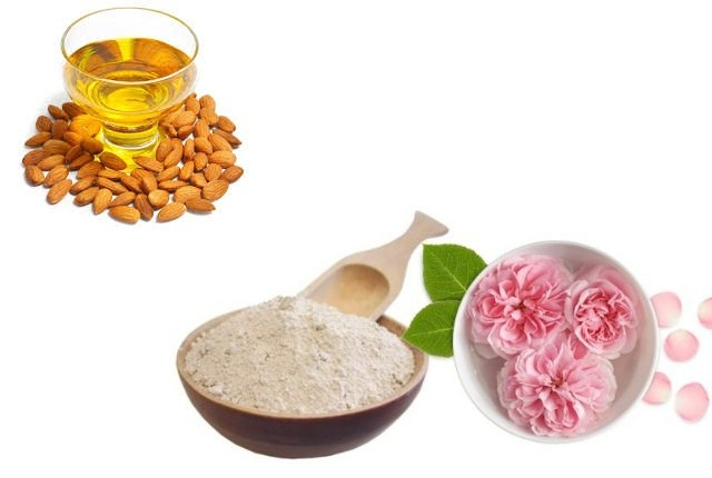 Rose-water, Sandalwood Powder And Almond Oil