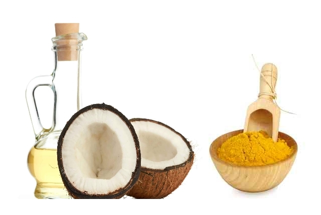 Turmeric Powder And Coconut Oil