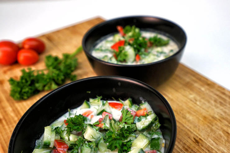 Kefir cucumber soup – a summerlike refreshing kefir recipe