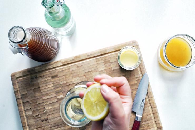 Ingwerspritz - Kombucha mit Ingwer und Zitrone - Scharfer Liebling im Glas - Die Erpressung