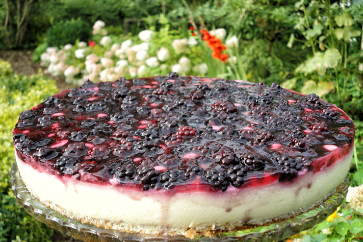 Milk kefir blackberry cake - a creamy and fruity cake dream - main picture