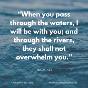 affirmations for labor pass through the waters isaiah
