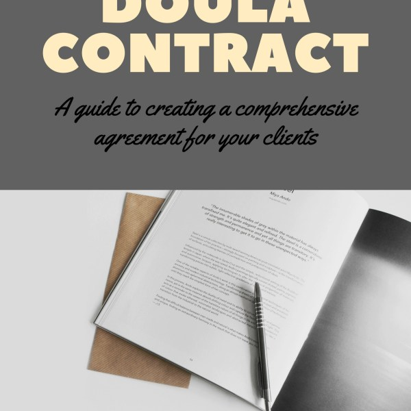 doula, contract, client, agreement, paperwork, release form