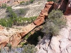 Above Escalante Natural Bridge.