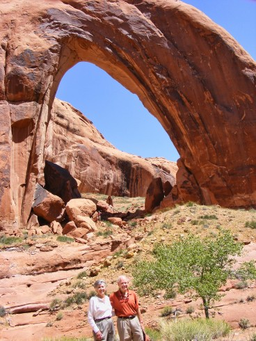 Gus and Sandra S. near Broken Bow Arch