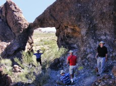 Arch AZ-49, west side. Terry Sorenson (left), Nick Terzakis (sitting), Jim Hoerlein (red shirt), and David Alexander