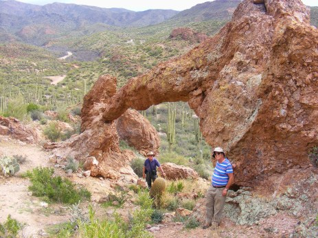 Hewitt Canyon Arch, Bob Mapes (left) and Nick Terzakis