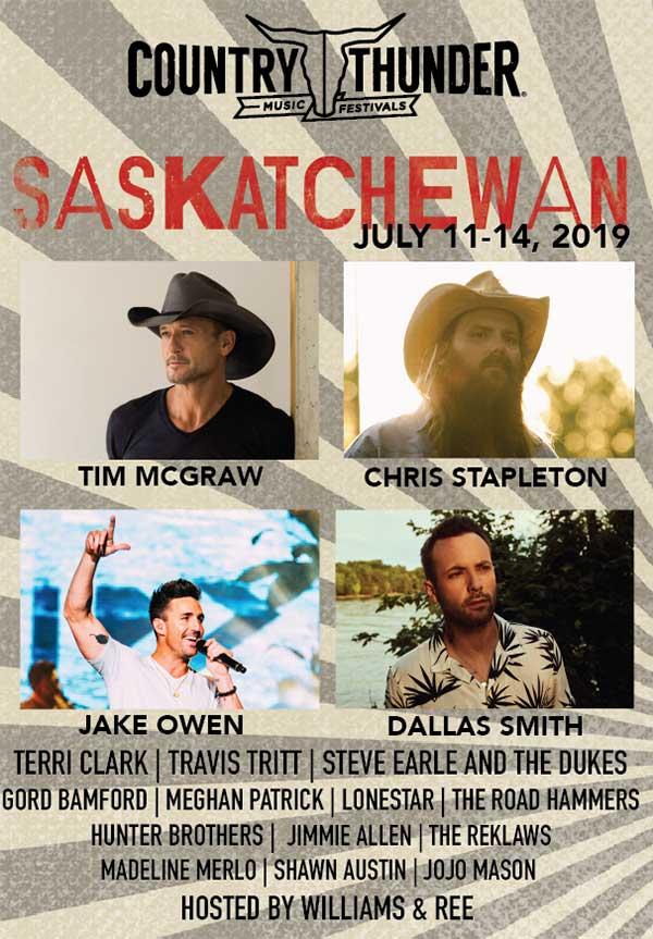2019 Country Thunder Saskatchewan