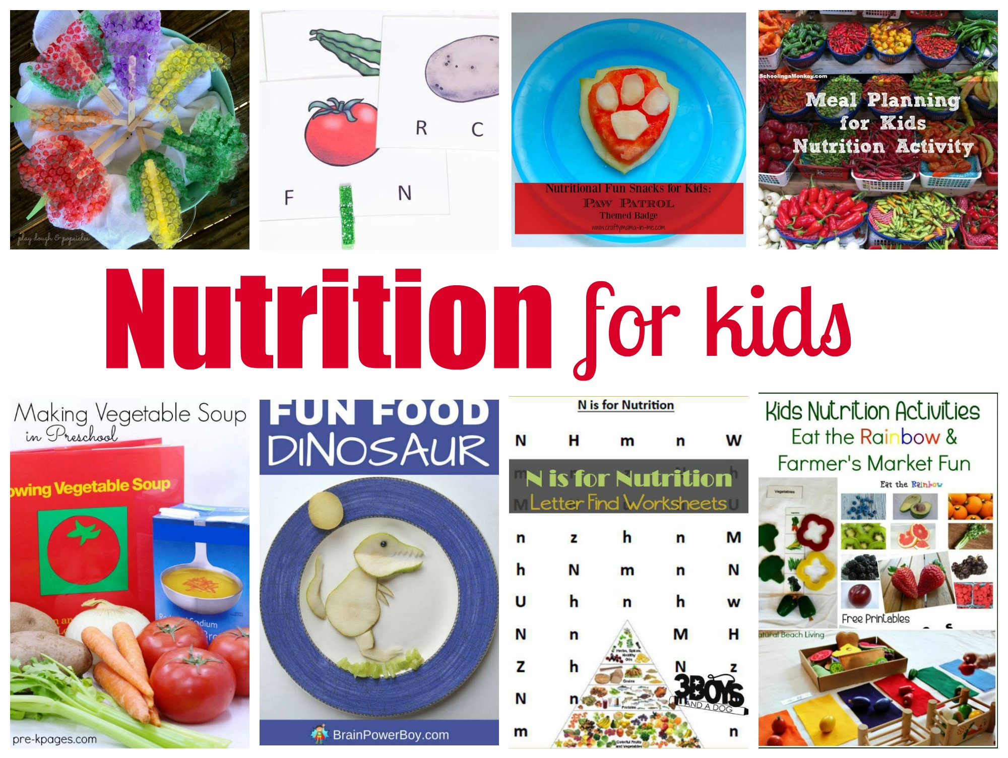 Kids Nutrition Activities Farmer S Market Healthy Eating Ideas