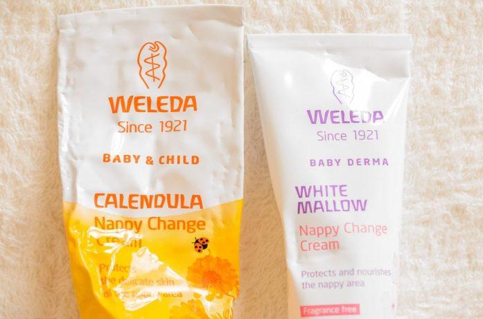The two Weleda nappy creams